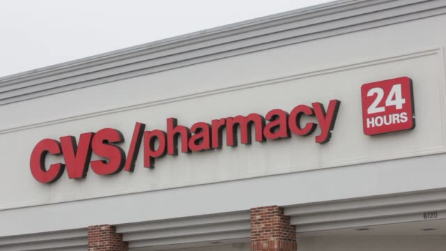 various shots of a cvs caremark corp. store in dallas, texas, u.s., on friday, feb. 7 a wide shot of a cvs store, a tight shot of cvs signage, a... - cvs caremark stock videos & royalty-free footage