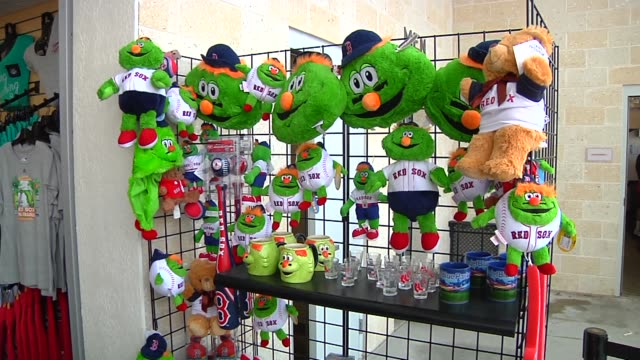 various shots of a souvenir stand at jetblue park at fenway south the boston red soxs spring training facility in fort meyers florida on march 23 a... - spring training stock videos & royalty-free footage