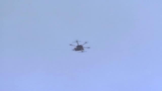 various shots of an israeli drone which is used for surveillance and carrying out attacks over the palestinian territory as palestinians stage... - gaza strip stock videos & royalty-free footage