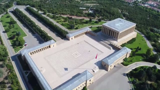 various shots of anitkabir the mausoleum of mustafa kemal ataturk who was the leader of the turkish war of independence and the founder and first... - ankara stock-videos und b-roll-filmmaterial