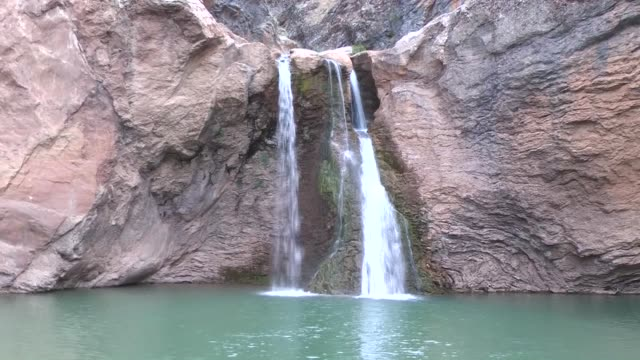 various shots of cetmi waterfall in taskent district of konya turkey on july 29 2017 - konya stock videos and b-roll footage