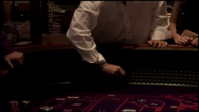 various shots of craps table in casino in las vegas - craps stock videos & royalty-free footage