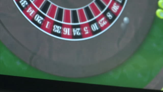 various shots of different forms of gambling - roulette stock videos & royalty-free footage