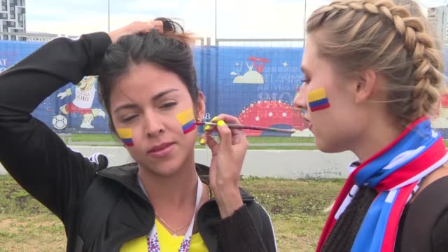 various shots of football fans during the 2018 fifa world cup russia on july 04 2018 in moscow - soccer competition stock videos & royalty-free footage