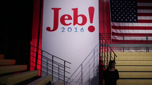 Various shots of Jeb 2016 Signage posted in Miami Florida before his announcement on June 15th 2015 Shots Close ups hots of Jeb 2016 Signage Wide...