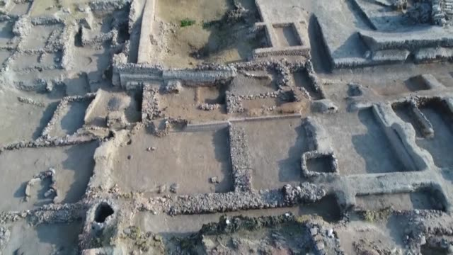 Various shots of Kultepe archaeological excavation site located some 25 kilometers from Kayseri Turkey on September 6 2017 Kultepe ancient mound...
