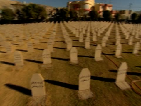 Various shots of mass graves where victims of the chemical weapons attack on Halabja in 1988 are buried