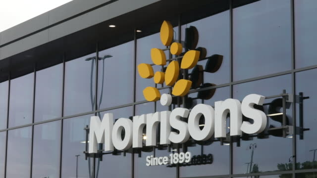 various shots of morrisons supermarket in st ives cambridgeshire uk on wednesday august 19 2020 - english language stock videos & royalty-free footage