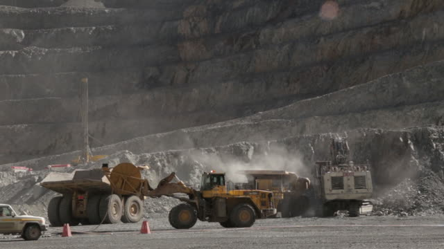 various shots of oyu tolgoi gold and copper mine in khanbogd mngovi mongolia on saturday september 22 2018 - copper mine stock videos and b-roll footage