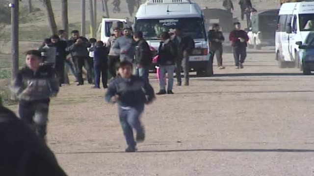 various shots of palestinian protesters participating in 'great march of return' protests near the gazaisrael border in gaza strip on december 14... - 2018 gaza border protests stock videos & royalty-free footage