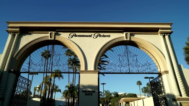 various shots of paramount studios bronson gate on melrose avenue - paramount studios stock videos & royalty-free footage