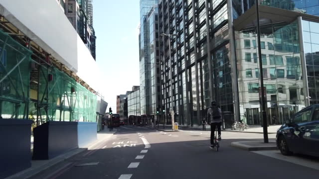 various shots of people cycling in central london during covid19 pandemic in london uk on monday june 22 2020 - road signal stock videos & royalty-free footage