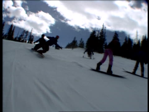 various shots of people skiing - skiwear stock videos & royalty-free footage