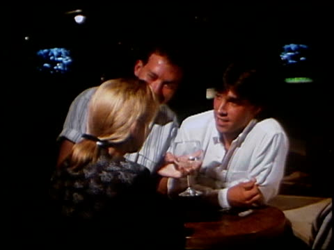 various shots of people talking in a bar - nightlife stock videos & royalty-free footage