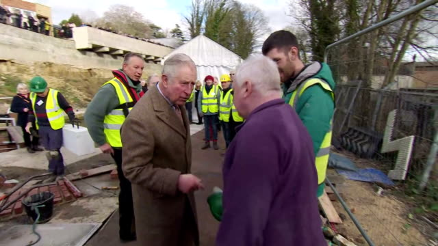Various shots of Prince Charles meeting volunteers and local community members at an event at Wallbridge Lower Lock to mark the restoration of the...