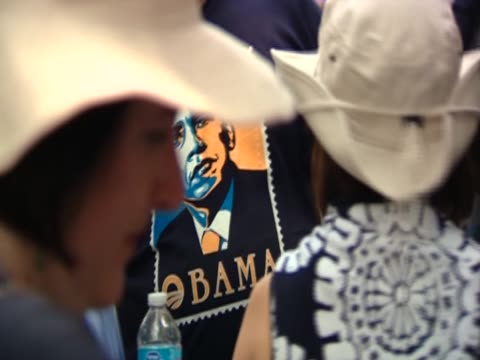 various shots of proobama paraphernalia and poster - poster stock videos & royalty-free footage