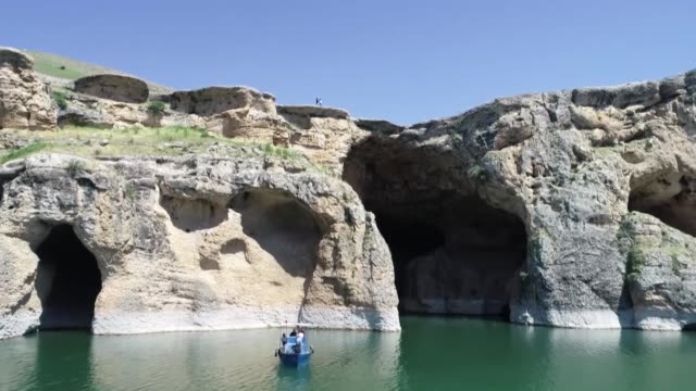 various shots of saklikapi and karaleylek canyons in turkey's eastern elazig province on may 06, 2020.the natural wonders of the 45 million year... - middle east stock videos & royalty-free footage