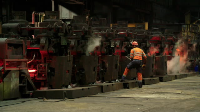 various shots of steel rod being produced - thick stock videos & royalty-free footage
