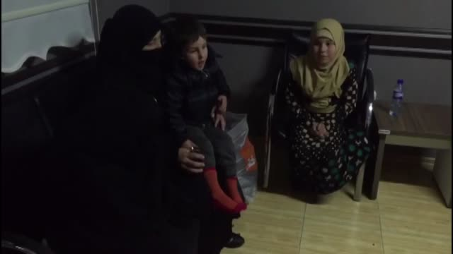 various shots of syrian family who stuck in flood rescued by the team of disaster and emergency management authority in kirikhan district of turkey's... - hatay stock videos & royalty-free footage
