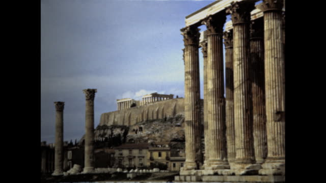 various shots of the acropolis in athens greece - acropolis athens stock videos & royalty-free footage