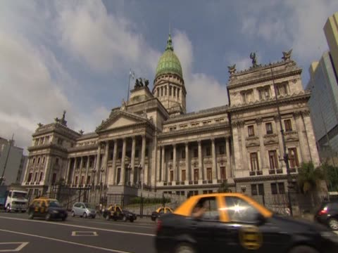 vidéos et rushes de various shots of the argentine national congress, buenos aires - bâtiment du parlement