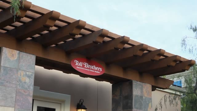 Various shots of the Baker Ranch Community being constructed by Toll Brothers Inc in Lake Forest California on February 11 A wide panning shot of a...