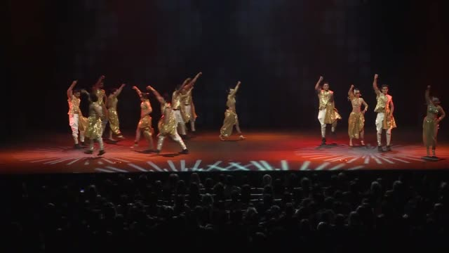 various shots of the dancers from taj express perform bollywood musical on stage at zorlu art center in istanbul turkey on january 23 2018 - bollywood stock videos and b-roll footage