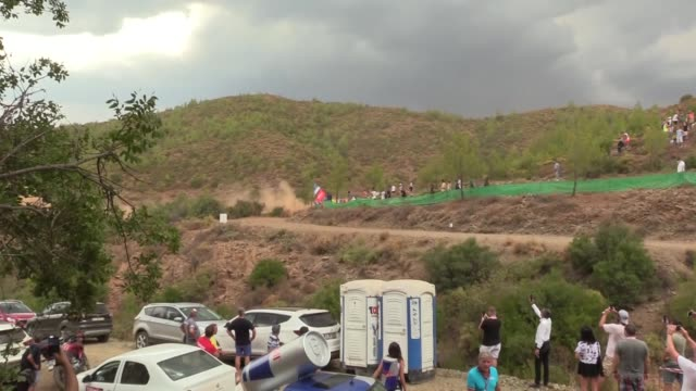 various shots of the drivers compete during icmeler cetibeli and ula stages of the world rally championship in southwestern mugla province turkey on... - world championship stock videos & royalty-free footage