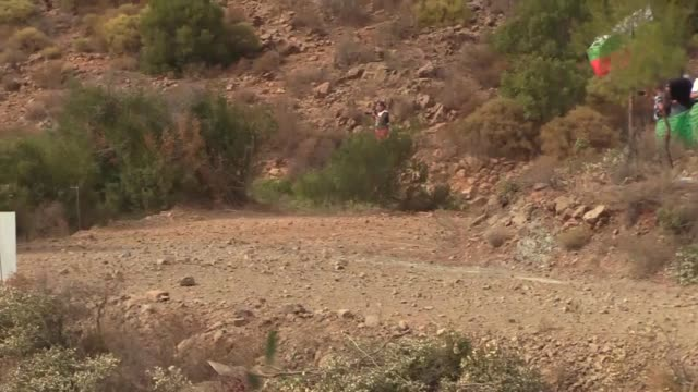 various shots of the drivers compete during icmeler cetibeli and ula stages of the world rally championship in southwestern mugla province turkey on... - mugla province stock videos & royalty-free footage