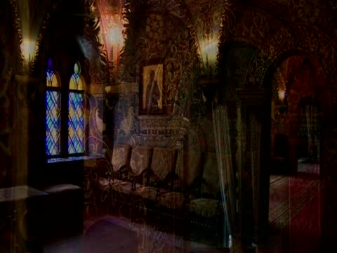 various shots of the interiors of the great kremlinppalace russia - palast stock-videos und b-roll-filmmaterial