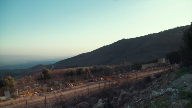 Various shots of the Israeli-Lebanese border guarded by UN soldiers