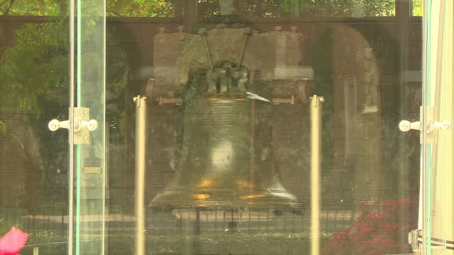 various shots of the liberty bell in philadelphia, pennsylvania. - independence hall stock videos & royalty-free footage