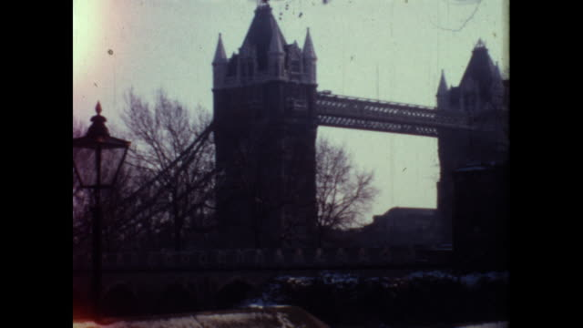 various shots of the london bridge and the river beneath - famous place stock videos & royalty-free footage