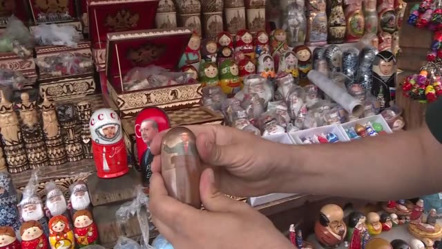 various shots of the stacking dolls also known as russian stacking dolls are seen at a shop during the fifa world cup 2018 in moscow russia on june... - fifa world cup 2018 stock videos & royalty-free footage