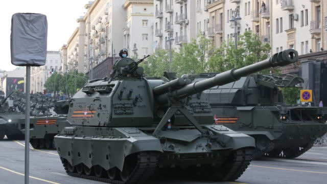 various shots taken before a night rehearsal of the victory day parade in the red square, in moscow, russia, on monday, june 17, 2020. - military parade stock videos & royalty-free footage
