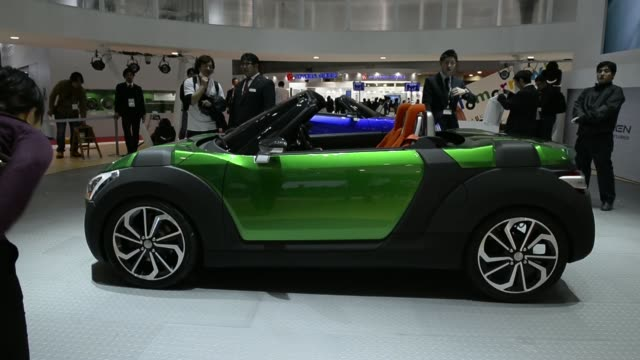 Various shots the Dihatsu Motor Co Kopen concept vehicle is displayed at the 43rd Tokyo Motor Show 2013 in Tokyo Japan on Wednesday Nov 20 Dihatsu...