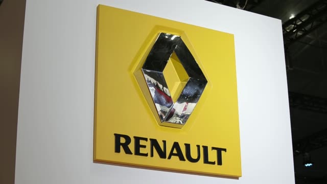 Various shots the Renault Dezir concept vehicle is displayed at the 43rd Tokyo Motor Show 2013 in Tokyo Japan on Wednesday Nov 20 Renault logo...