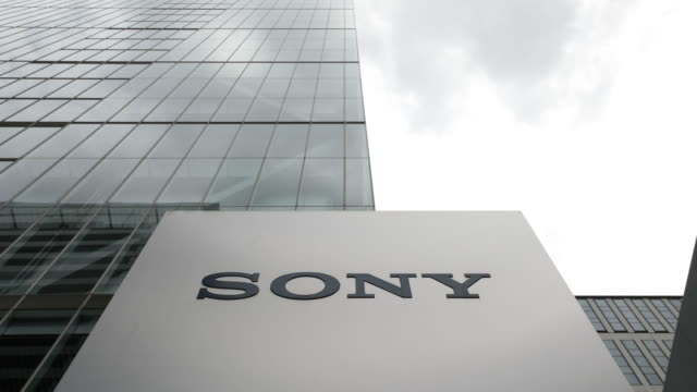various sony corp products are displayed at the company's headquarters in tokyo japan on friday july 27 2018 - hauptfirmensitz stock-videos und b-roll-filmmaterial