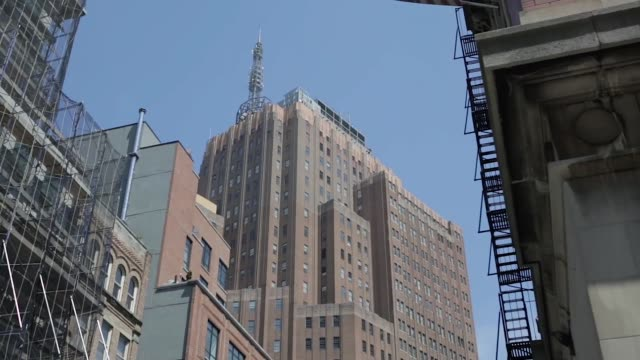 Various street scenes and exteriors in the Tribeca area of Manhattan New York on May 12th 2015 Shots Shot zooms in on 32 Avenue of the Americas also...
