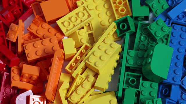 various studio shots and arrangements of lego pieces and figurines , in danbury, essex, england, u.k., on friday, march 5, 2021. - extreme close up stock videos & royalty-free footage