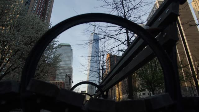 Various time lapse shots of One World Trade Center under construction in downtown Manhattan New York