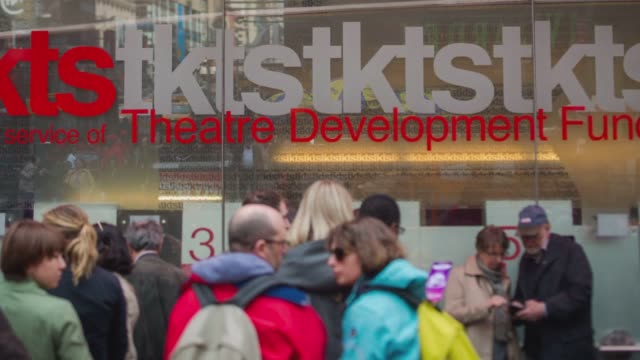 various timelapse shots of the broadway theater district in midtown manhattan new york city new york on march 4 a wide timelpase at dusk of crowds... - musical theater stock videos and b-roll footage