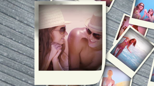 various videos of summer situations into instant photos - sexy teen stock-videos und b-roll-filmmaterial