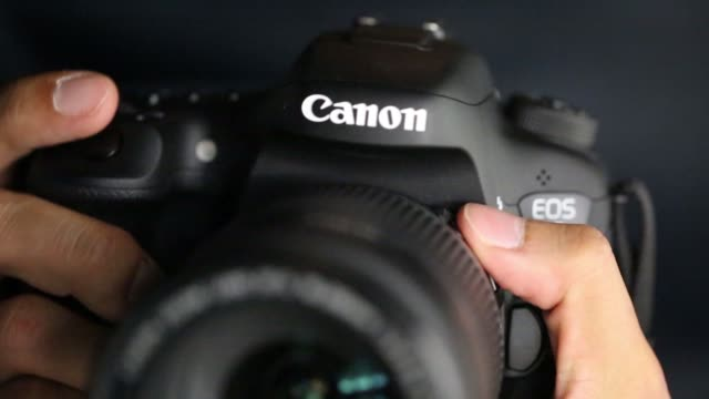 Various views of a Canon Inc digital single lens reflex camera in Tokyo Japan on Tuesday Jan 27 2015