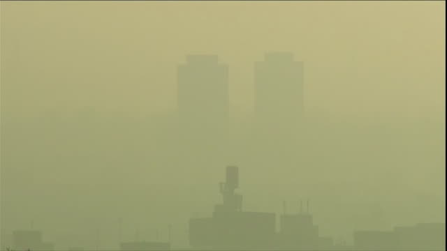Various views of air pollution over England