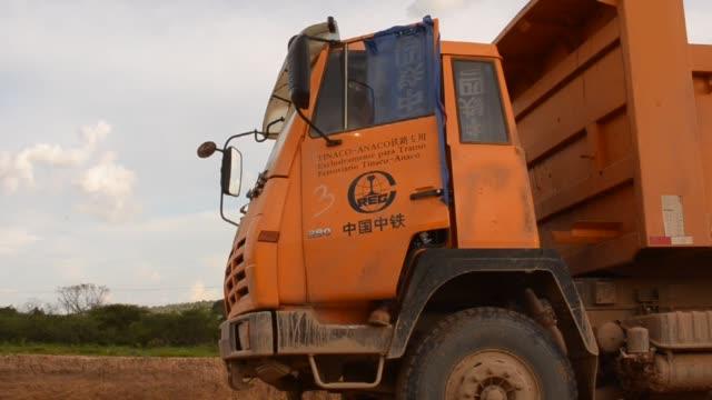 various views of dos caminos work trucks, chinese worksites, employees dos caminos trucks on september 17, 2012 in venezuela, american samoa - samoa stock videos & royalty-free footage