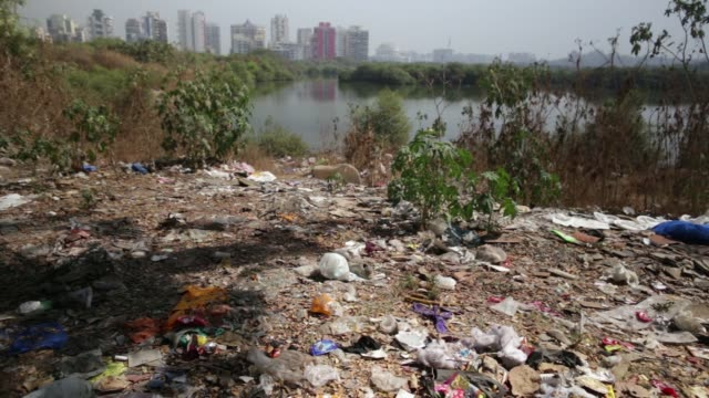 various views of garbage and debris around a mangrove in navi mumbai maharashtra india on tuesday feb 2 2016 - e waste stock videos & royalty-free footage