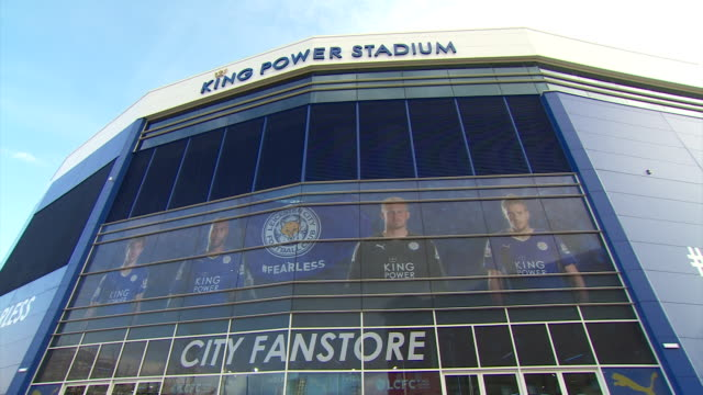 various views of leicester city fc's king power stadium - only japanese stock videos & royalty-free footage