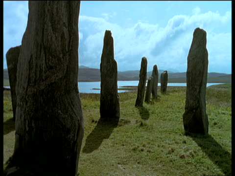 various views of the callanish standing stones on the isle of lewis. - ranunkel stock-videos und b-roll-filmmaterial