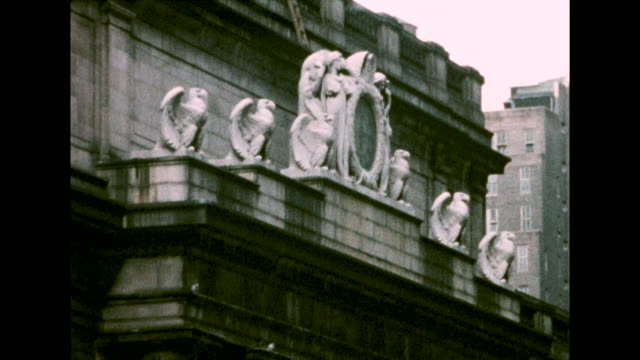 various views of the exterior fa�ade of penn station. - new york city penn station stock videos & royalty-free footage
